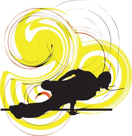 street dance: Breakdancer illustration