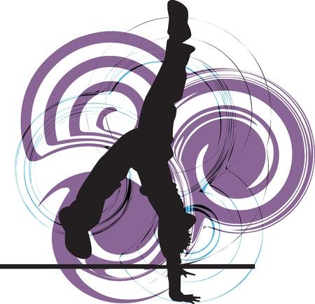 parkour: Breakdancer illustration