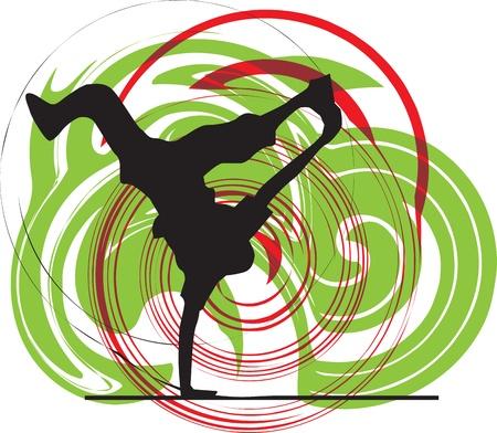 breakdancer illustration Stock Vector - 10937056