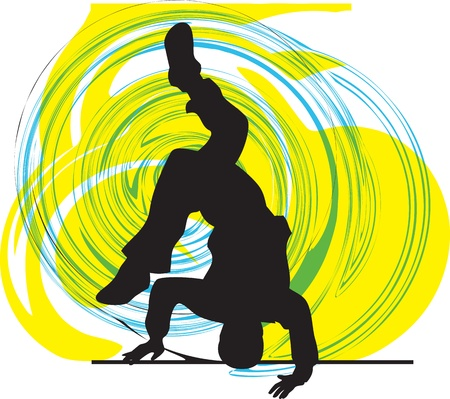break dance: breakdancer illustration