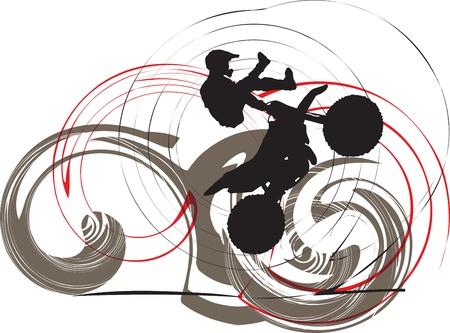 motorcycle accidents: Biker illustration