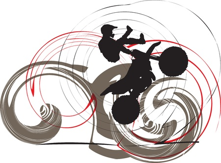 Biker illustrazione Vettoriali