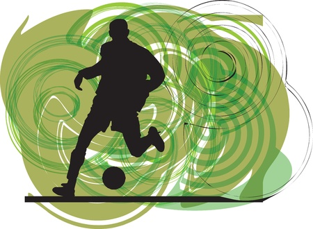 Football player illustration Vector