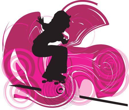 skater illustration Stock Vector - 10937084