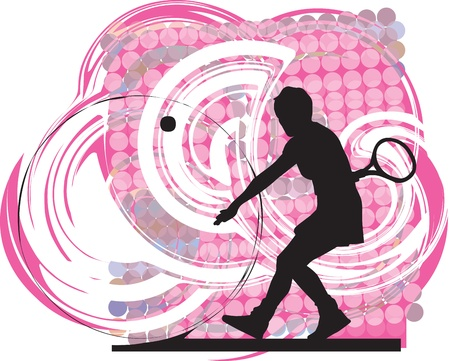 Tennis players illustration Vector