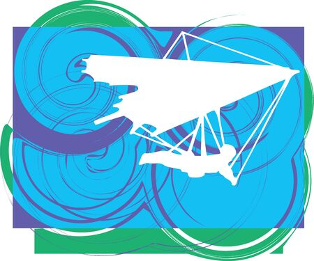 Hang Glider Vector Illustration Illustration
