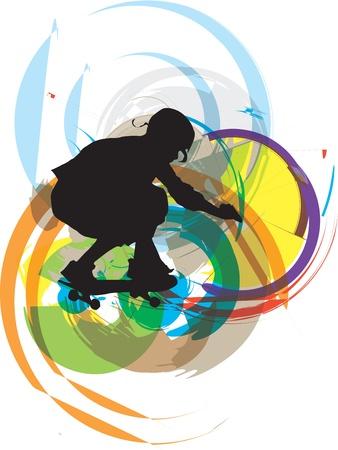 Skater ilustración. Ilustración vectorial Ilustración de vector