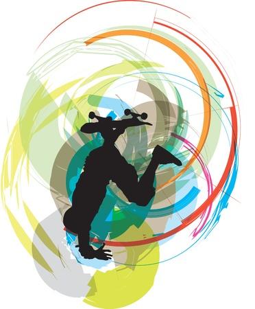 Skater illustration. Vector illustration Vector