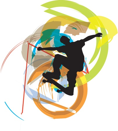 Skater illustration. Vector illustration Vector
