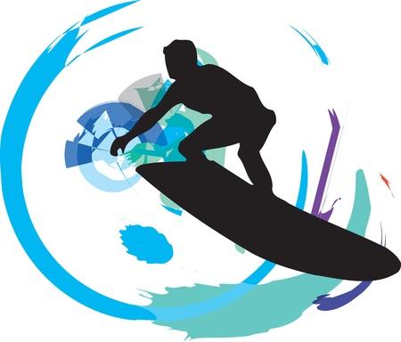 Surf illustration Stock Vector - 10937123