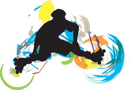 patinaje: Ilustraci�n de skater