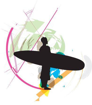 Surf illustration Stock Vector - 10937139