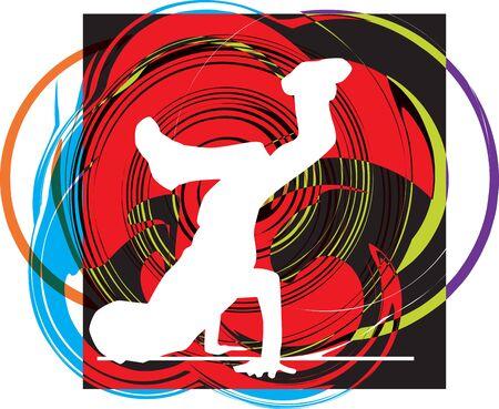 breakdance: breakdancer illustration