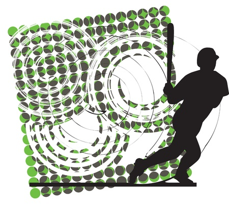 Baseball player illustration Vector