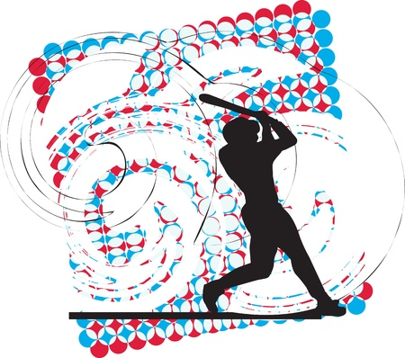 Baseball player illustration Stock Vector - 10937092