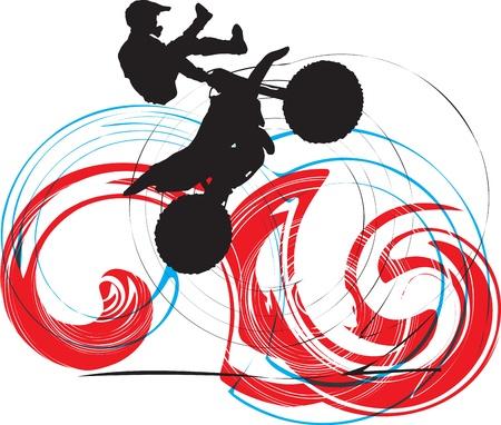 Biker illustration Vector