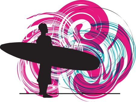Surf illustration Vector