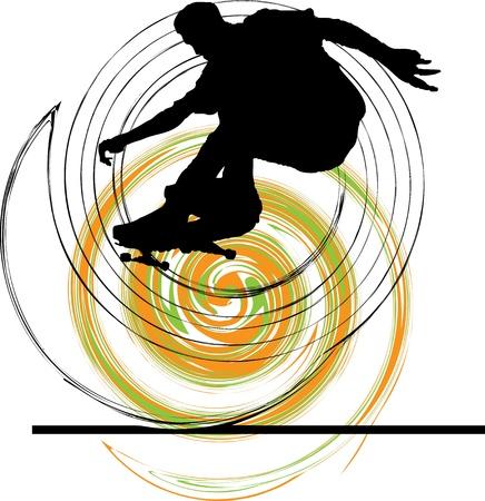 Patinador ilustración. Ilustración vectorial