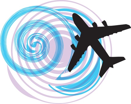 Airplane illustration Stock Vector - 10968820