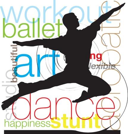 Dancing, vector illustration Vector