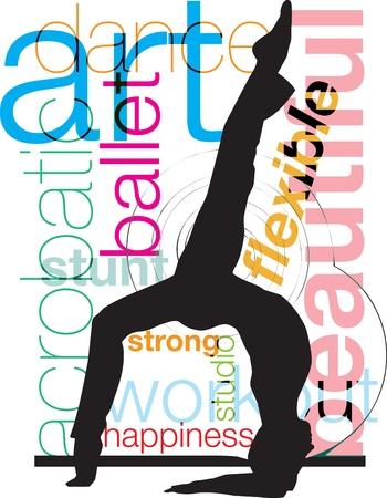 Yoga, vector illustration Vector