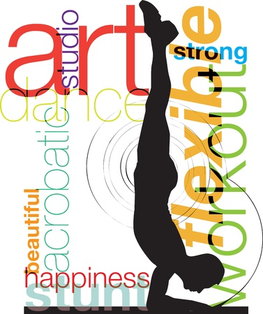 Yoga, vector illustration Stock Vector - 10968771