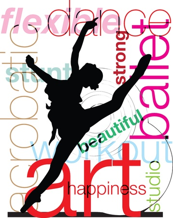 Acrobatic Girl Stock Vector - 10968782