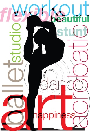 Acrobatic Girl Vector