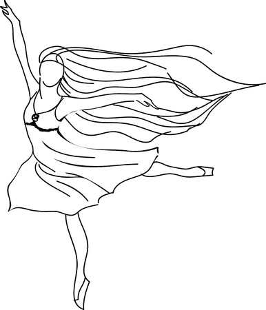 graceful: Ballerina illustration Illustration