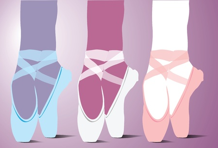 Ballet shoes illustration Vector