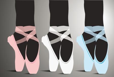ballet slipper: Zapatos de ballet ilustraci�n