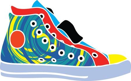 Sport shoes design Vector