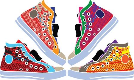 Zapatillas de deporte de dise�o Foto de archivo - 10968869