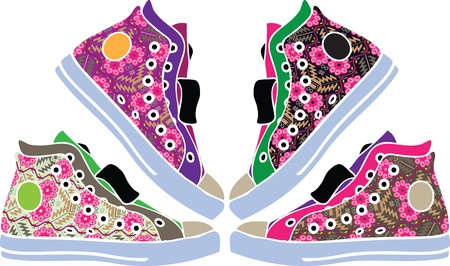 Sport shoes design Vector