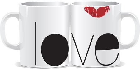 liefde cup Vector Illustratie