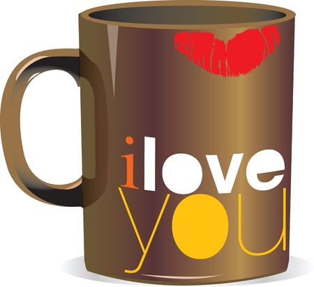 valentine day cup of coffee: i love you