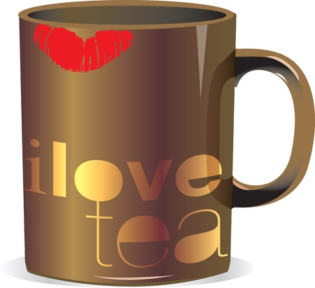 i love tea Stock Vector - 10968774
