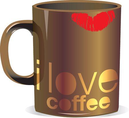 i love coffee Stock Vector - 10968805