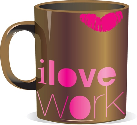 hot lips: i love work Illustration