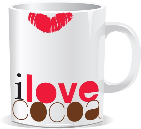 hot lips: i love cocoa Illustration