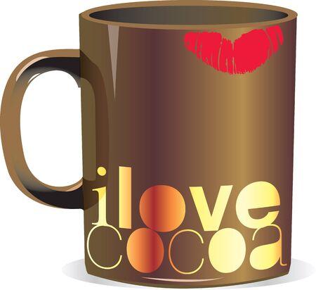 me encanta el cacao Ilustración de vector