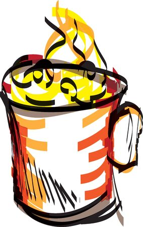 deliciously: cup illustration