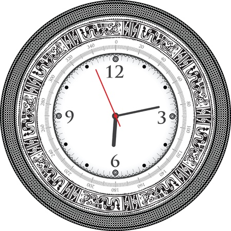 Vintage ancient clock Stock Vector - 10968870