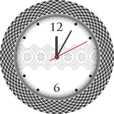 abstract alarm clock: Vintage ancient clock Illustration