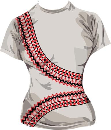 paracas: Ancient t-shirt illustration Illustration