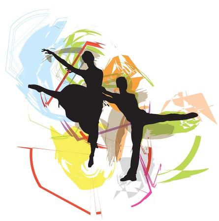 ballet studio: Dancing illustration Illustration