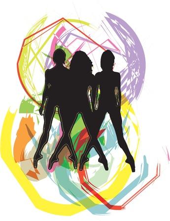 Dancing illustration Stock Vector - 10969331