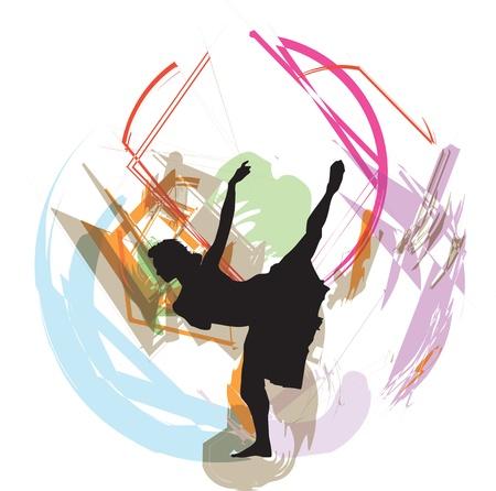 Dancing illustration Stock Vector - 10969280