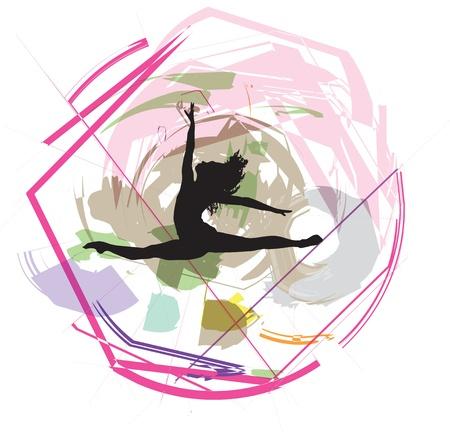 Dancing illustration Stock Vector - 10969374