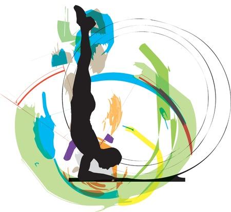 acrobat: Dancing illustration Illustration